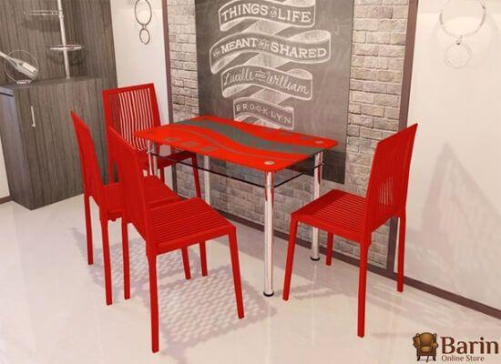 Стеклянный стол Абстракция - интернет-магазин Барин