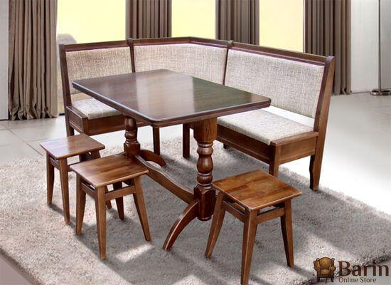 Стол обеденный Семейный+3 табуретки